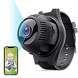 Mini Cámara Espía Oculta, TESECU Cámaras Vigilancia WiFi 1080P HD con 160ºGran Angular,Grabadora Video Portátil con...