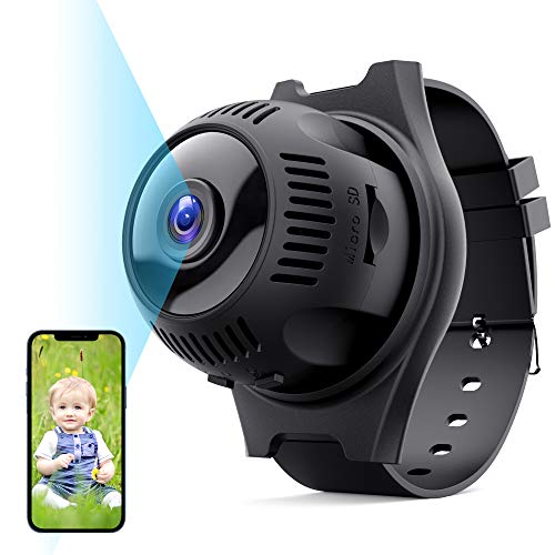 Mini Cámara Espía Oculta, TESECU Cámaras Vigilancia WiFi 1080P HD con 160ºGran Angular,Grabadora Video Portátil con IR Visión Nocturna Detector de Movimiento,Camara Seguridad Pequeña Interior/Exterior