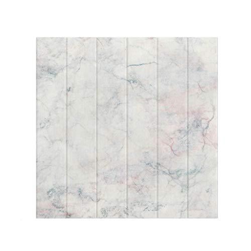 LRZS Papel Tapiz 3D 70 * 70 cm Tiles de mármol de imitación Peel-Stick Tableros de decoración de Pared Suave para cabeceros de Dormitorio Arte 3D Art Wallpaper DIY Pegatinas de Pared 10 Paneles