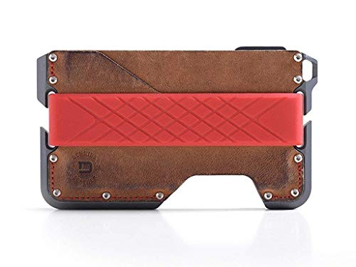 Dango D01 Dapper EDC Wallet - Made in USA - Genuine Leather, Slim, Minimalist, Metal, RFID Blocking