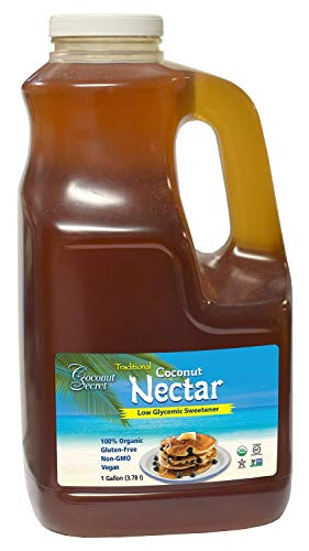 Coconut Secret Raw Organic Coconut Nectar - 100% Organic, Non-GMO, Vegan, Gluten-Free, Naturally Sweet, Caramel-Like Flavor - 1 Gallon