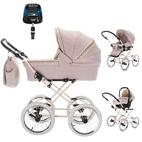 Friedrich Hugo Natureline Uni | 4 in 1 Kombi Kinderwagen | ISOFIX Set