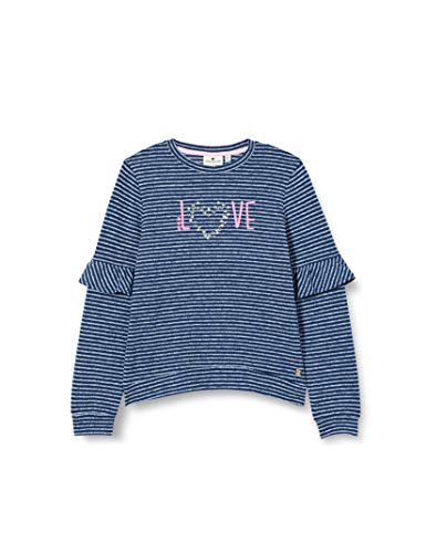 TOM TAILOR Mädchen Sweatshirt T-Shirt, Dress Blues|Blue, 128/134