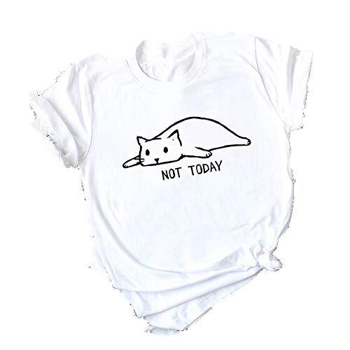 NOBRAND Casual algodón estampado para mujer exquisita camiseta de manga corta
