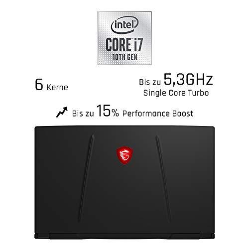 MSI GL65 10SFSK-462 Leopard (39,6 cm/15,6 Zoll/144Hz) Gaming-Laptop (Intel Core i7-10750H, 16 GB RAM, 1 TB PCIe SSD, Nvidia GeForce RTX 2070 SUPER 8 GB, Windows 10 Home)