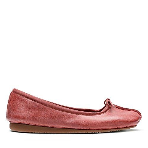 Clarks Damen Freckle Ice Geschlossene Ballerinas, Rot (Brick), 41.5 EU