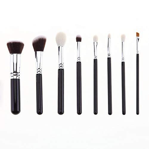 Pinceau de maquillage 8 Set Black Silver Pinceau de maquillage haut de gamme