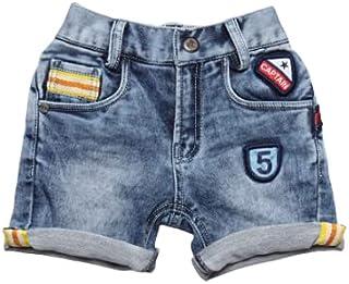 Little Kangaroos Boys Denim Shorts, Light Blue - ROGS2019156B