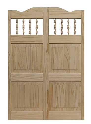 "LTL Home Products 848642 Carson City Interior Solid Wood Swing Door, 36"" x 42"", Unfinished"