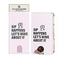 Sip Happens ワインボックスカバー 巧みにデザインされた箱入りワイン用パッケージ どんな機会にも使えるクールなボックスカバー 軽量 ポータブル 装飾ボックスカバー WineBox