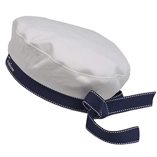 MEALAH Bow Navy-Hat Cotton Flat-Cap-Sailor Women