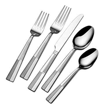 International Silver Arabesque Frost 18/0 Stainless Steel Flatware, 20-Piece Set, Service for 4 (5114325)