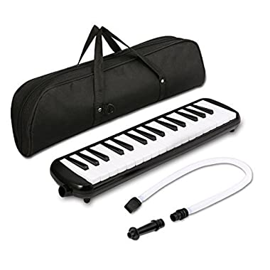 Melodica instrument - NASUM 37 Key Piano Style Melodica,Melodica keyboard Suitable for Teaching and Playing,with Carrying Case (Black)