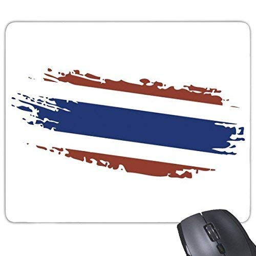 DIYthinker Koninkrijk Van Thailand Thaise Traditionele Douane Cultuur Bangkok Thailand Vlag Art Illustratie Rechthoek Antislip Rubber Mousepad Game Mouse Pad