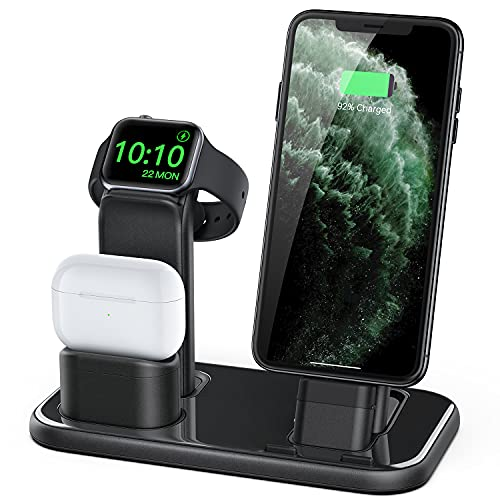 BEACOO Upgraded 3 in 1 Charging Stand for iWatch Series 6/5/4/3/2/1,...