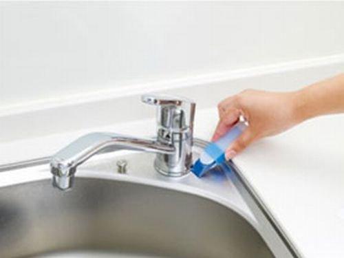 マーナ(MARNA)掃除の達人すみずみ消しゴムケース付がんこな水垢、カビ、黒ズミにW086