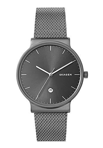 Skagen Herren Analog Quarz Uhr mit Edelstahl Armband SKW6432