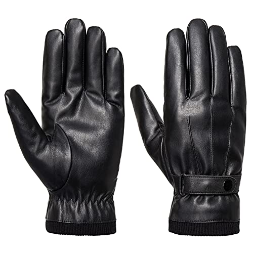 Men's Winter Gloves - Acdyion Faux Leather Touchscreen Casual Outdoor...