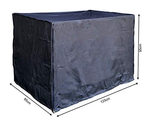 QUICK STAR Gitterbox Abdeckung 125x85x95cm Schwarz Schutzhaube Abdeckplane