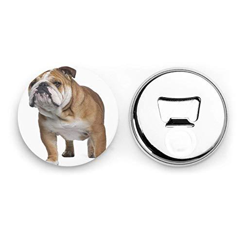 Bulldog inglese Magneti da frigorifero Apribottiglie da birra Bottiglia di coca cola Vino Soda Apribottiglie Magnete da cucina Apribottiglie Magnetico 2 pezzi
