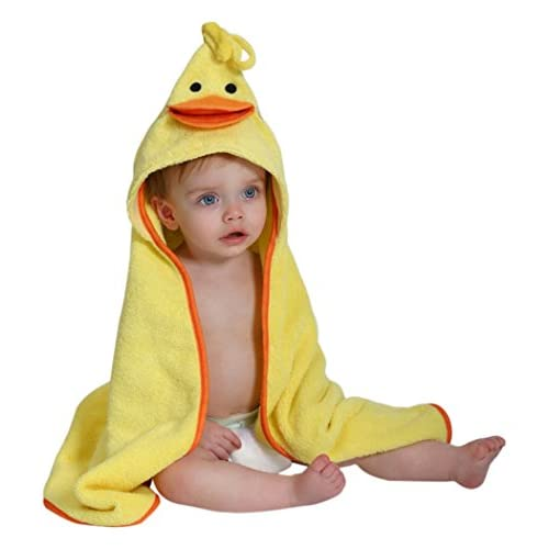 Zoocchini Asciugamano con cappuccio - Asciugamano con cappuccio baby 100% cotone