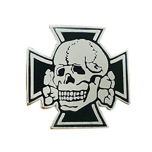 wangk Cruz de Hierro Negro Honor Guerra Ejército Oficial Elite Cráneo Pin Cabeza de Muerte Broche Alemán Insignia Joyería