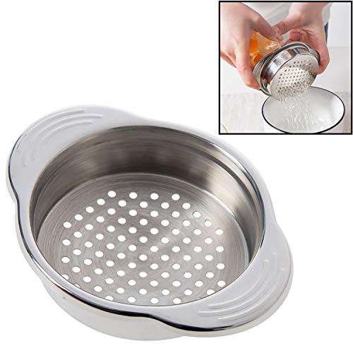 Keissco Stainless Steel Food Can Strainer Sieve Tuna Press Lid Oil Drainer Remover, Unique No-Mess Dishwasher Safe Design