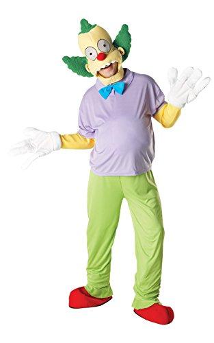 Rubie's Offizielles Klassisches Kostüm Krusty The Clown Simpsons Deluxe, Erwachsenen-Kostüm – Standard bis 106,7 cm Brustumfang
