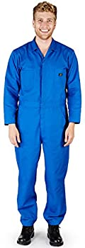 NATURAL WORKWEAR - Mens Long Sleeve Basic Blended Coverall Royal 38103-Large