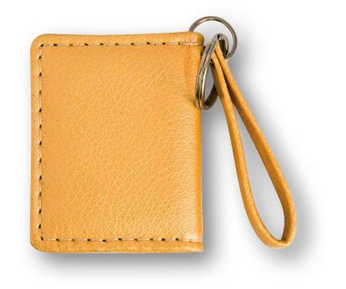 ZEP Foto Schlüsselanhänger mit Schlüsselring, Hülle aus Kunstleder, für 2 Bilder je 3,5 x 4,5, gelb