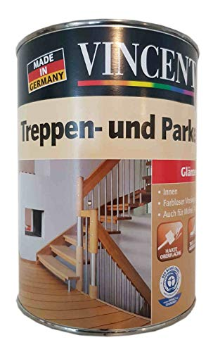 Vincent Treppen- und Parkettlack PU-Basis Acrylatdispersion glänzend Innen 0,75 Liter