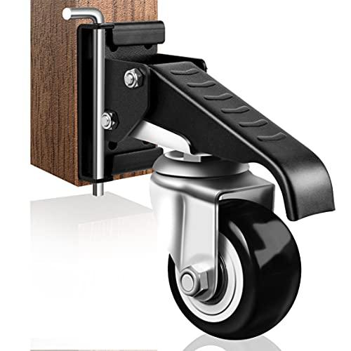 SPACECARE - Juego de 4 ruedas de banco de trabajo (acero resistente, capacidad de 440 libras)