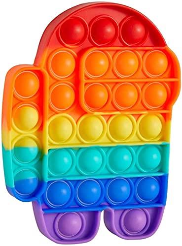 Pop It Fidget Toy Bubble Brinquedo Sensorial AMG Colorido