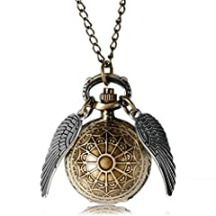 This Steampunk Pendant Watch is a must have and will look great with any outfit. An ideal gift for any occasion birthday, Christmas or treat yourself. These quirky timepieces are a real talking point. Great Steampunk fan piece with the golden winged ...