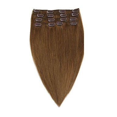 MZP clip remy vierge cheveux humains extensions 7pieces / set # 8 14-20inch 70g 22inch 100g , 7pcs/pack