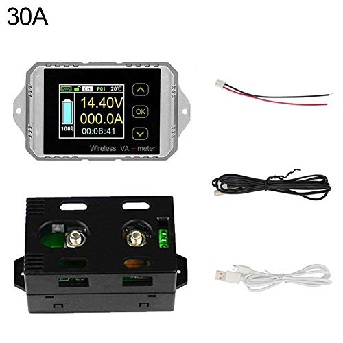 Best Deals! Wireless Coulometer Test Meter Battery Capacity Ammeter Voltmeter LCD Display