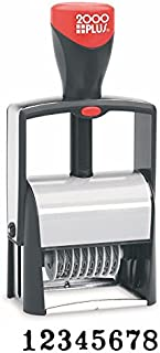 Cosco 010160 2000 Plus self-Inking Numberer, 8 Bands, Type Size 2, Black Ink pad