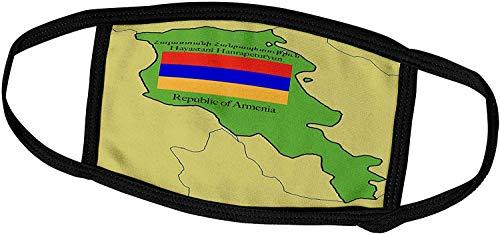 Keyboard cover Flaggen und Karten-Karte und Flagge von Armenien mit Republik Armenien Gedruckt in Englisch und Armenian-Face Masken