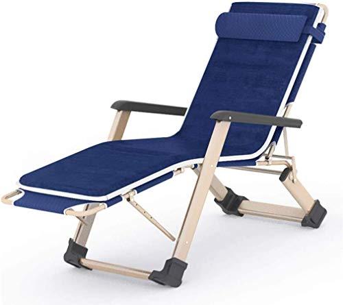 TGTGH Sonnenliege Gartenstühle Faltbar Liegestuhl Sonnenliege Zero Gravity Tragbare Relaxliege Doppel Oxford Tuch Liegestuhl mit Samtpolster Klappliege (Farbe, Blau), Blau