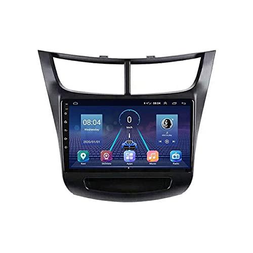 Radio estéreo de coche para Chevrolet Sail 2015-2018 Android Auto Head Unit IPS Pantalla táctil Navegación GPS Soporta Espejo Link Wifi Control Volante Bluetooth FM Carplay,4 Core 4G+WiFi: 1+16GB