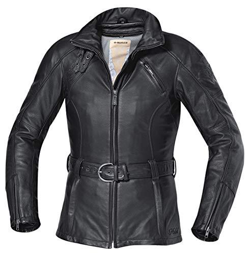 SunnyTrade Held Jacket Carla Leren motorjack voor dames, zeer hoogwaardige jack, aantrekken en gaan rijden