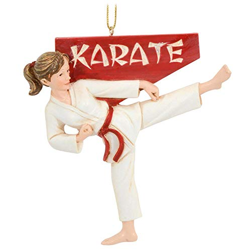 Karate Girl Christmas Ornament