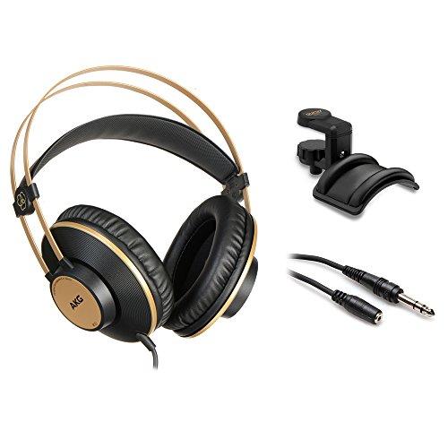 AKG K92 Studio-Kopfhörer mit geschlossener Rückseite, inkl. Halterung und Verlängerungskabel