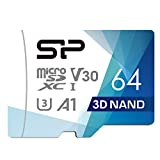 Silicon Power 64GB Superior Pro Micro SDXC UHS-I (U3), V30 4K A1, High Speed MicroSD Card with Adapter