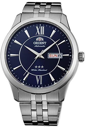 Orient Herren Analog Automatik Uhr mit Edelstahl Armband FAB0B001D9