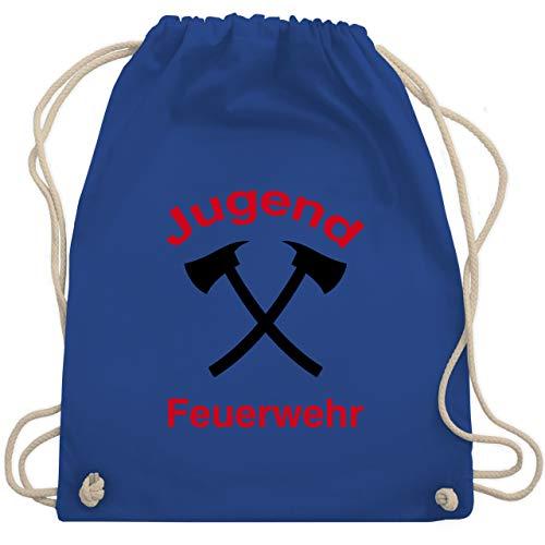 Shirtracer Feuerwehr - Jugend Feuerwehr - Unisize - Royalblau - turnbeutel jugendfeuerwehr - WM110 - Turnbeutel und Stoffbeutel aus Baumwolle