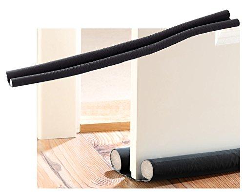infactory Tür Zugluftstopper: Zugluft-Stopper für Türen bis 60 mm Dicke, schwarz (Luftzugstopper Tür)
