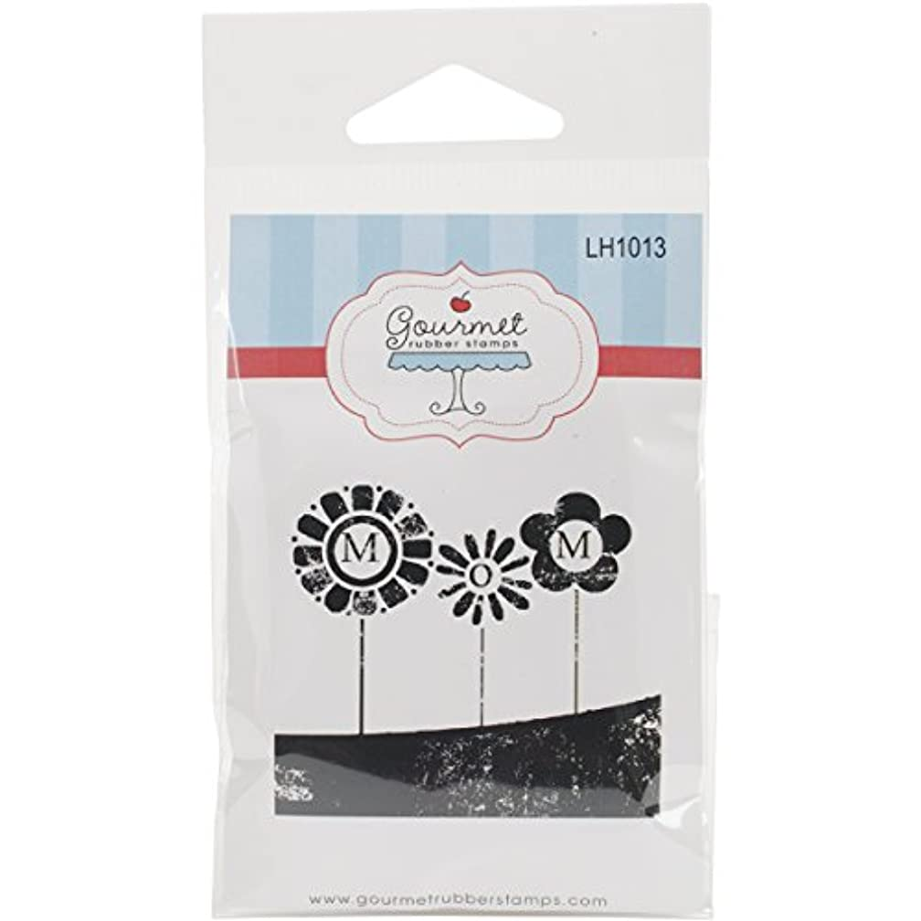 Gourmet Rubber Stamps Cling Distressed Mom Flowers Stamps, 2.75 x 4.75