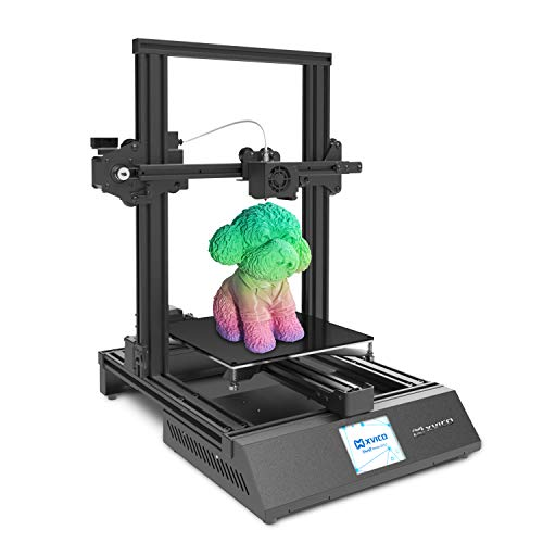 "3D Printer with Lattice Glass Platform and 2.8"" Colorful Touch Screen Filament Sensor Open Source Semi-Assemble DIY 3D Printers for Beginners Printing Size 220x220x250mm XVICO X3S"