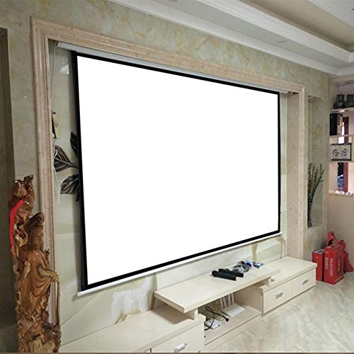 Projector Screen Home Theater Movie Without Frame 100 Inch 4:3 Manual Pull Down Projector Projection Screen Front and Rear Projection (Color : White, Size : 100 Inch)